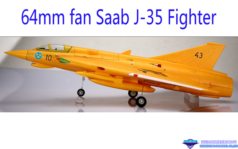 64mm Ducted fan Saab J-35 Fighter