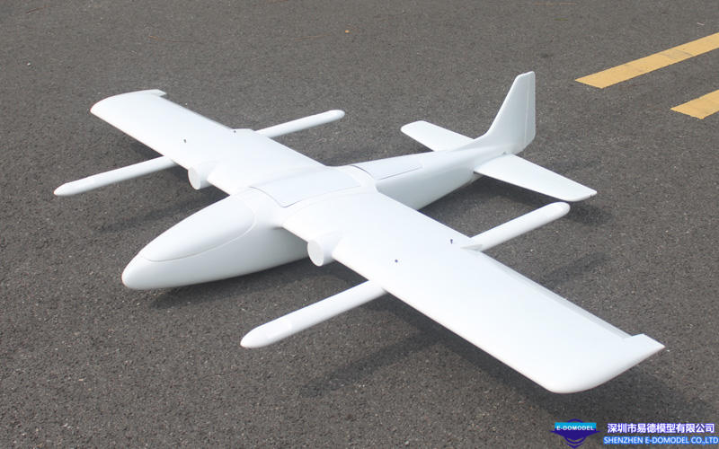 2.3m Wingspan Industrial Level VTOL UAV of Composite Material Construction